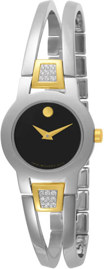 Movado Amorosa Diamonds Two Tone Stainless Steel 604983