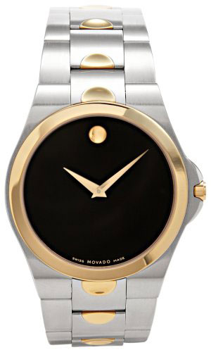 Movado Two Tone Luno Stainless Steel Museum Dial 605635