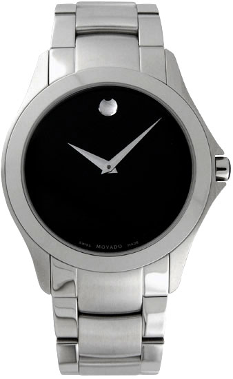 Movado Military Black Museum Dial Stainless Steel 605869