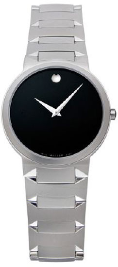 Movado Stainless Steel Temo Black Dial 605904