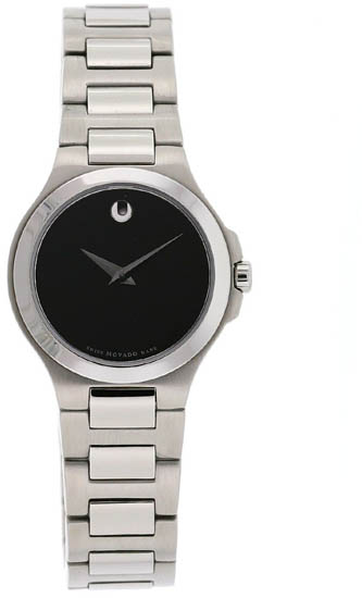 Movado Corporate Exclusive Ladies Black Dial Stainless Steel 606164