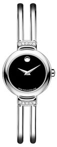 Movado Harmony Stainless Steel Black Dial with Diamonds 606239