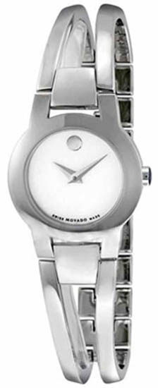 Movado Amorosa Mother of Pearl Dial Stainless Steel Quartz White Dial 606538