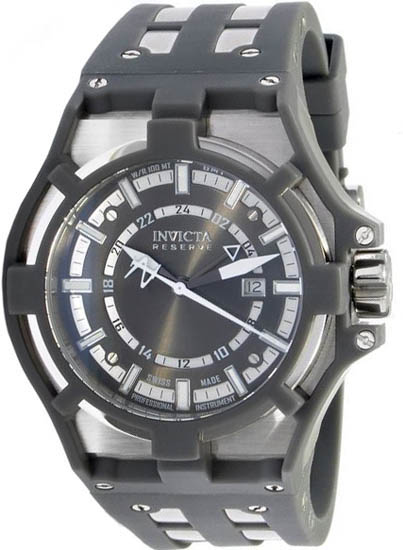 Invicta Stainless Steel Reserve Swiss Quartz Gray Dial 625