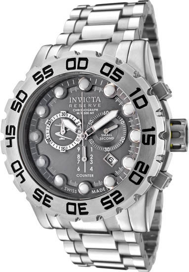 Invicta Stainless Steel Leviathan Chronograph Diver Gray Dial 811