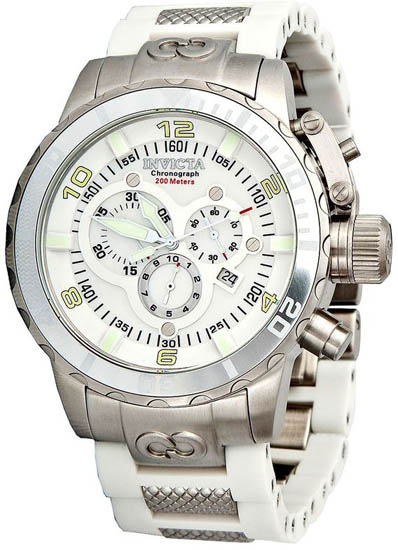 Invicta Stainless Steel Corduba Chronograph Mother Of Pearl Dial 1023