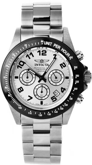 Invicta Stainless Steel Speedway Quartz Chronograph Silver Dial 10702