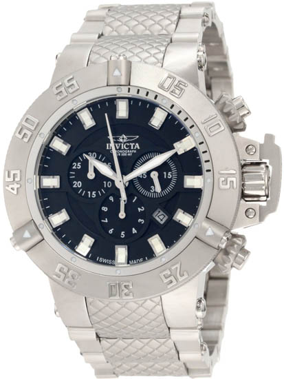 Invicta Stainless Steel Subaqua Noma Diver Black Dial Chronograph 1194