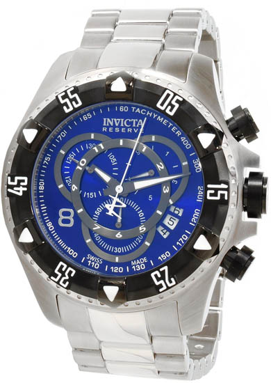 Invicta Reserve Touring Diver Quartz Chronograph Blue Dial Black Bezel 1882