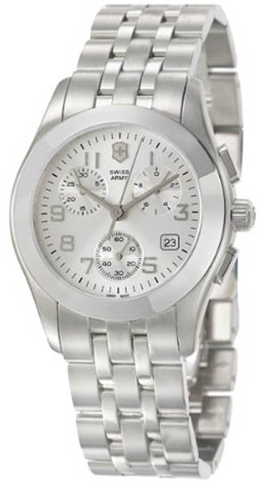 Swiss Army Stainless Steel Alliance Quartz Chronograph Silver Tone Dial 241048