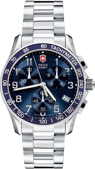 Swiss Army Classic Chronograph Blue Dial Stainless Steel 241120
