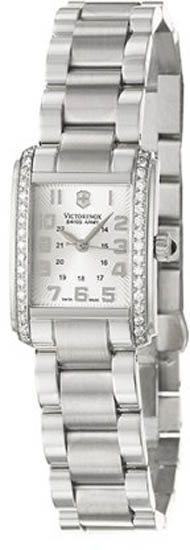 Swiss Army Stainless Steel Vivante Quartz Diamond Silver Tone Dial 241186