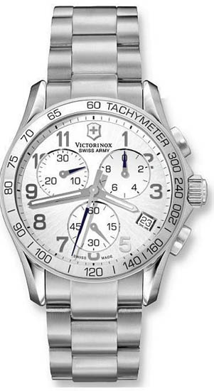 Swiss Army Stainless Steel Quartz Chronograph Silver Dial 241315