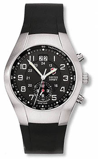Swiss Army Chronograph Black Dial 24133