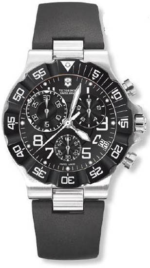 Swiss Army Summit Chronograph Black Dial Rubber Strap 241336