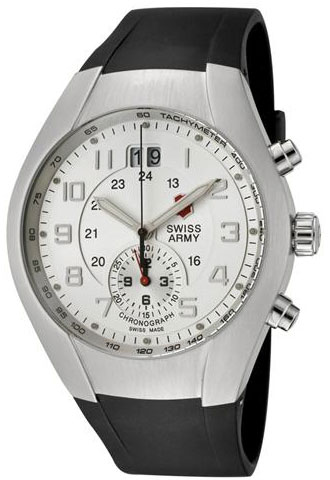 Swiss Army Mavericks Silver Dial Stainless Steel Strap 24134