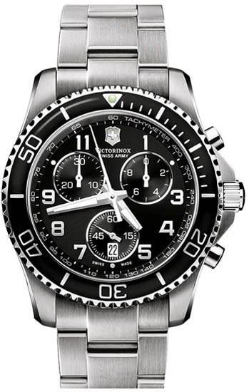 Swiss Army Stainless Steel Victorinox Maverick Chronograph Black Dial 241432