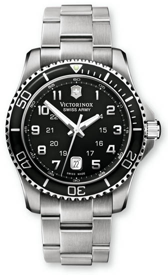 Swiss Army Stainless Steel Victorinox Maverick Black Dial Quartz 241436