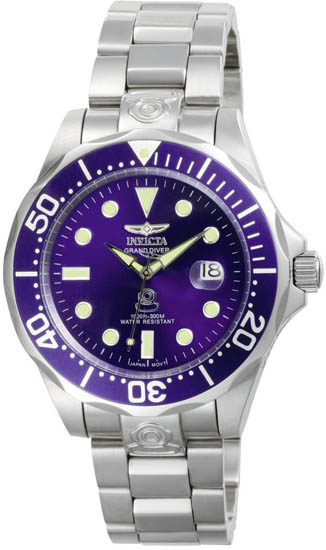 Invicta Stainless Steel Pro Diver Blue Dial Automatic 3045