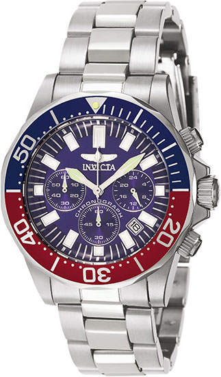 Invicta 7052 Mens Watch Stainless Steel Sapphire Pro Diver