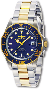 Invicta Two Tone Stainless Steel Pro Diver Blue Dial Automatic 8928