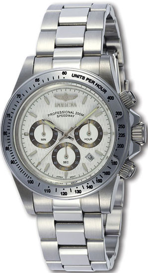 Invicta 9211 Mens Watch Stainless Steel Speedway Diver Chronograph White Dial Diver