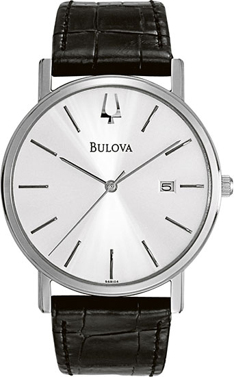 Bulova Stainless Steel Dress Silver Dial 96B104