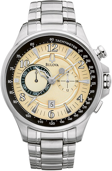 Bulova Stainless Steel Adventurer Champagne Dial Chronograph 96B140