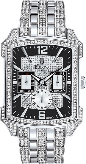 Bulova Stainless Steel Swarovski Crystal Case Links 96C108