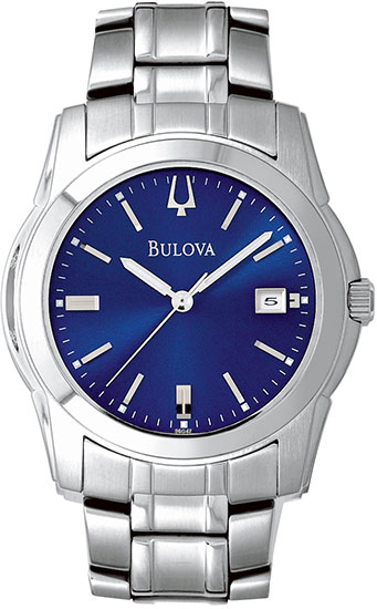 Bulova Blue Dial Stainless Steel 96G47
