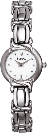 Bulova Stainless Steel Dress Mother of Pearl Dial Twist Link 96L90