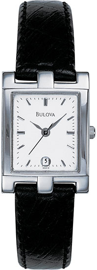 Bulova Stainless Steel Dress Silver Tone Dial 96M19
