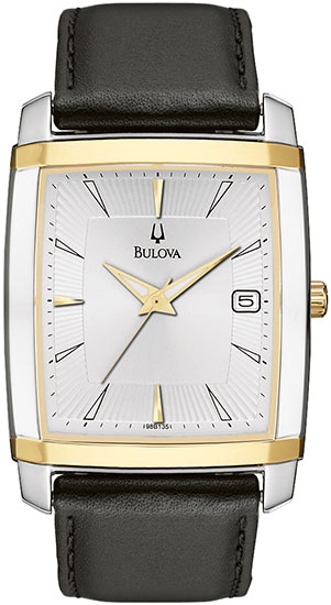 Bulova Two Tone Stainless Steel Case Quartz Strap 98B135