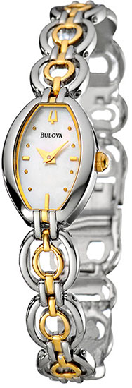 Bulova Two Tone Stainless Steel Dress Mother of Pearl Dial 98L003
