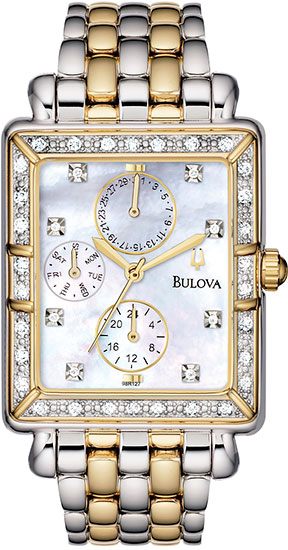 Bulova Mother Of Pearl Watch With Diamonds