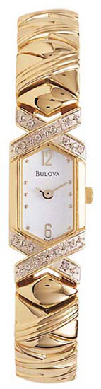 Bulova Gold Tone Dress White Dial Diamonsd at Sears.com