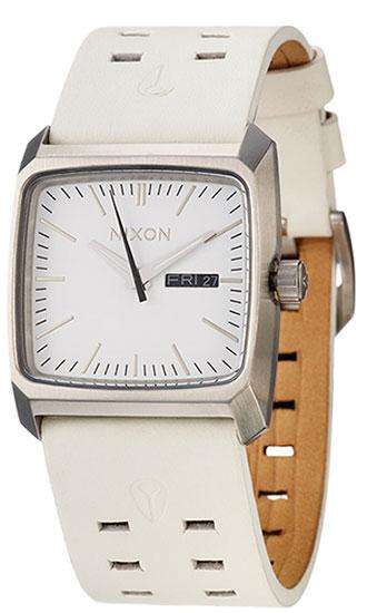 Nixon Men's WATCH The Time Teller Minimal Brown Leather ...