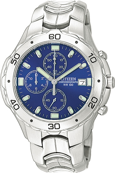 Citizen Stainless Steel Blue Dial Chronograph AN0950-53L
