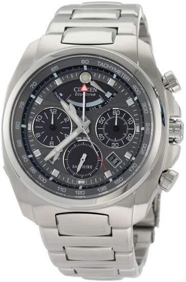 Citizen Stainless Steel Calibre 2100 Sapphire Chronograph Charcoal Dial AV0050-54H