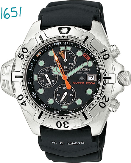 Citizen Aqualand Chronograph Chrono Aqua BJ2000-09E