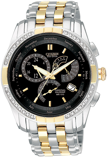 Citizen Two Tone 8700 Calibre Perpetual Calendar with Diamonds BL8044-59E