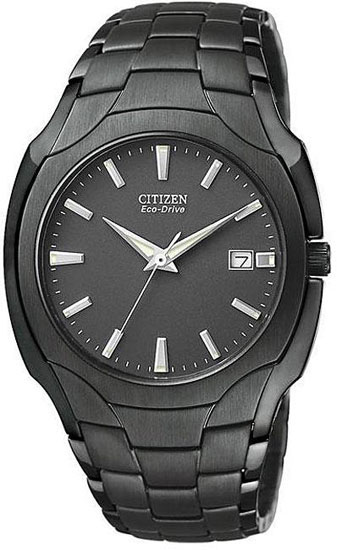 Citizen Black Anodized Stainless Steel Eco-Drive BM6015-51E