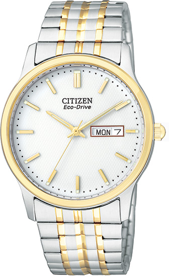 Citizen Two Tone Eco-Drive 180 White Dial Expansion Bracelet BM8454-93A