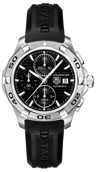Tag Heuer Aquaracer Automatic Black Dial Chronograph Rubber Strap CAP2110FT6028