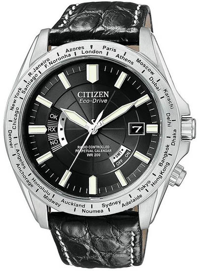 Citizen Limited Edition Perpetual Calendar Stainless Steel World Time Atomic CB0000-06E
