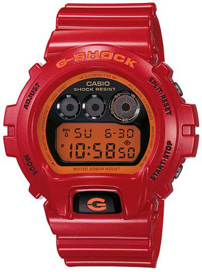 Casio Men Casio DW6900CB-4 G-Shock Red Plastic Resin G-Shock Orange Digital at Sears.com