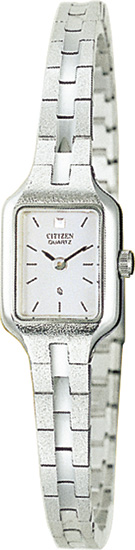 Citizen Elegance Dress Stainless Steel Bracelets Silver Dial EH3850-53A