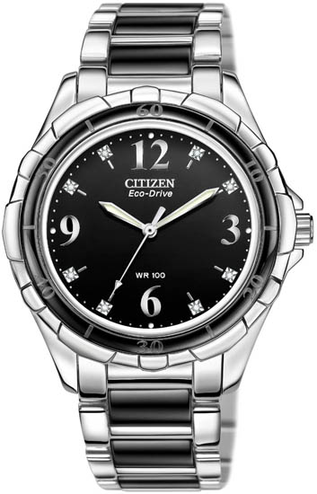 Citizen Ceramic Black Dial EM0031-56E
