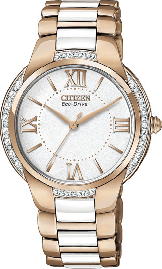 Citizen Em0173 51a Ladies Watch Eco Drive Stainless Steel