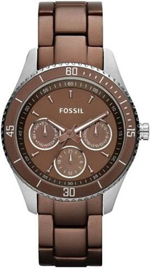Stella Stainless Steel Case and Bracelet Brown Dial Day and Date Displays